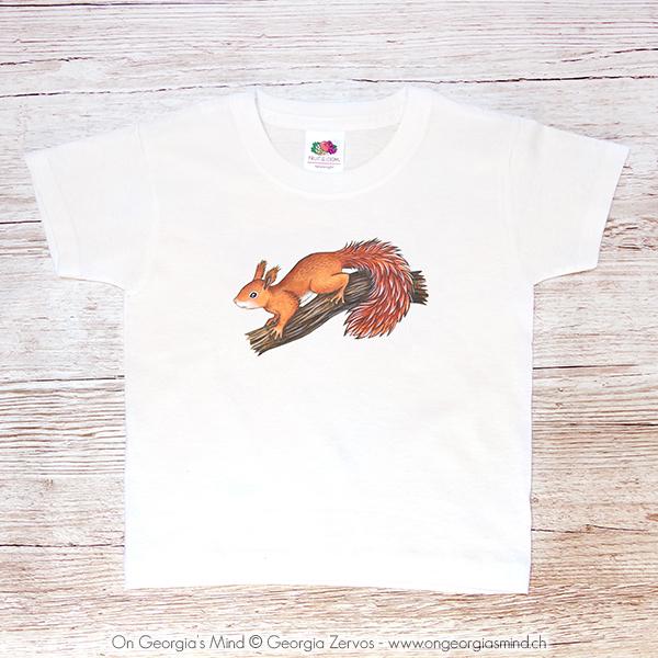 T-shirt «L'écureuil»