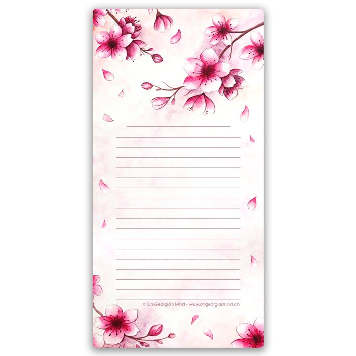 Bloc-notes «Fleurs de Cerisier»